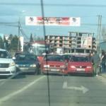 """Trei autoturisme avariate în urma unui accident rutier petrecut în apropierea Stadionului """"Cetate"""" din Alba Iulia"""