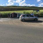 Accident rutier pe DN 1 provocat de un tânăr din Alba Iulia pe fondul neacordării de prioritate