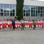 """Elevele din clasa a X-a, pe prima treaptă a podiumului, la """"Cupa Majoretelor"""" 2016 de la Colegiul Militar din Alba Iulia"""
