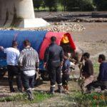 Tabără de romi nomazi stabilită pe malul râului Mureș, în zona Partoș, evacuată de Poliția Locală din Alba Iulia