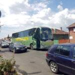 Coliziune între un autobuz și un autoturism în zona Alba Mall, din Alba Iulia