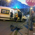Biciclist acroșat de un autoturism în apropiere de Stația de Salvare, din Alba Iulia
