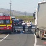Biciclist accidentat mortal după ce a fost lovit de un TIR, pe șoseaua de centură a municipiului Alba Iulia