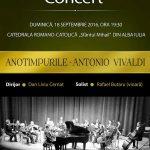 "Concert extraordinar al Orchestrei de Cameră ""Augustin Bena"" la Alba Iulia ""Anotimpurile – Antonio Vivaldi"""