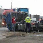 Două TIR-uri au intrat în coliziune pe șoseaua de centură a municipiului Alba Iulia