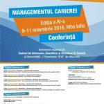 """Între 9 și 11 noiembrie 2016, Universitatea """"1 Decembrie 1918"""" din Alba Iulia va fi gazda celei de-a IV-a ediții a conferinței """"Managementul Carierei"""""""