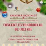 Aproape 100 de artiști vor susține astăzi un concert de colinde tradiționale românești, pe scena Casei de Cultură a Sindicatelor din Alba Iulia
