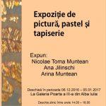 Galeria de la Poarta a III-a a Cetății găzduiește în aceste zile o expoziție de artă plastică cu lucrări semnate de trei artiști din Alba Iulia