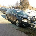 Accident rutier soldat cu pagube materiale pe strada Alexandru Ioan Cuza din Alba Iulia