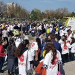 """Câteva sute de albaiulieni au participat la Marșul pentru viață 2017 – """"Ajută mama și copilul! Ei depind de tine"""""""