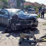 O persoană a fost rănită în urma unei coliziuni între două autotutrisme, petrecută pe Bulevardul Încoronării din Alba Iulia