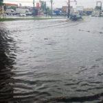 Șanțurile Cetății și Bulevardul Încoronării din Alba Iulia, inundate în urma ploii torențiale căzute astăzi