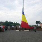 Ceremonie în Piața Tricolorului din Alba Iulia, cu ocazia zilei Drapelului României