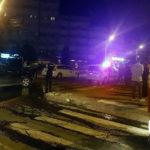 """O persoană a fost transportată la spital, după ce un taxi și un autoturism s-au lovit în intersecția din zona Stadionului """"Cetate"""", din Alba Iulia"""