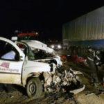 O persoană și-a pierdut viața după ce un autoturism a fost spulberat de un TIR, pe șoseaua de centură a municipiului ALBA IULIA