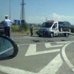 Accident rutier provocat de o șoferiță neatentă, care nu a acordat prioritate în intersecția dintre strada Mărășești și șoseaua de centură a municipiului Alba Iulia