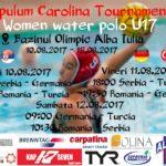 """Între 10 și 12 august 2017, Bazinul Olimpic din Alba Iulia găzduiește turneul internațional de polo feminin U17 – """"Apulum Carolina Tournament"""""""