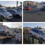 Coliziune între două autoturisme, în intersecția din fața magazinului Kaufland din Alba Iulia, cauzată de neacordarea de prioritate