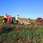 Un bărbat a decedat la Craiva, după ce un tractor s-a răsturnat peste el