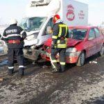 Femeie de 62 de ani rănită în urma unui accident rutier provocat de un tânăr de 21 de ani din Alba Iulia, pe DN 1 în apropiere de Oiejdea