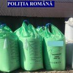 90 de tone de îngrășăminte chimice, depozitate necorespunzător, confiscate de polițiști de la un bărbat din Berghin