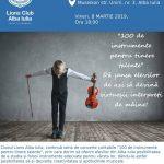 Vineri, 8 martie 2019: Asociația Lions Club din Alba Iulia vă invită la concert