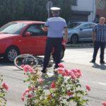 Biciclist acroșat de un autoturism, pe strada Regina Maria din Alba Iulia
