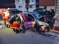 Accident rutier grav petrecut pe DJ 107H, la Bucerdea Vinoasa